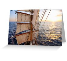 Sunset from the Mast Greeting Card