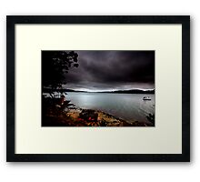 Stormy View From Shark Island Sydney Framed Print