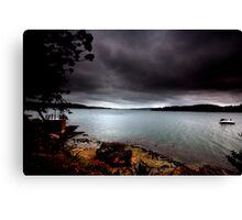 Stormy View From Shark Island Sydney Canvas Print
