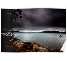 Stormy View From Shark Island Sydney Poster