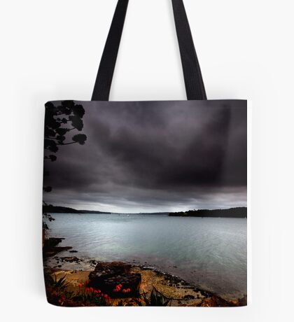 Stormy View From Shark Island Sydney Tote Bag