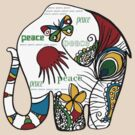 Peace Elephant by Karin  Taylor