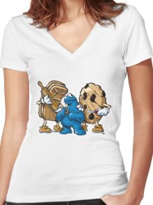"""""""C""""is for """"Crippling Re-Education"""" Women's Fitted V-Neck T-Shirt"""