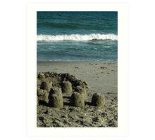 Castles Under Construction Art Print