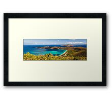 Panoramic Aerial View of Magens Bay Framed Print