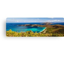 Panoramic Aerial View of Magens Bay Canvas Print