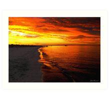 Sunset at Busselton Art Print