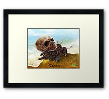 The Zombie Zodiac - Cancer Framed Print