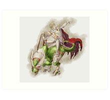 Rune Knight Art Print