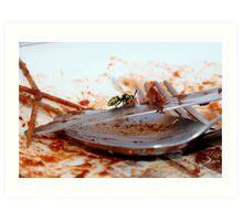 When a wasp eat an horse Art Print