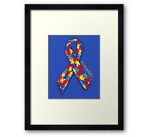 Autism Awareness Ribbon Framed Print