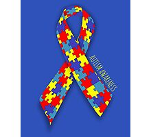 Autism Awareness Ribbon Photographic Print