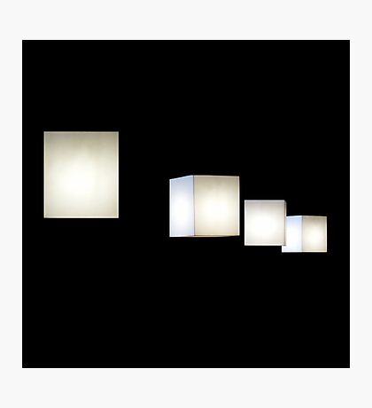 Cube lamps Photographic Print