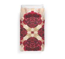 Old Red Rose Kaleidoscope 2 Duvet Cover