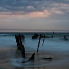 Dickies Beach Wreck by Luke Stephensen