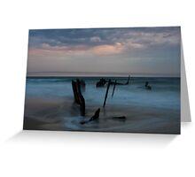 Dickies Beach Wreck Greeting Card
