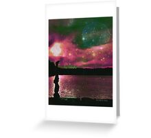 Yoga by the lake Greeting Card