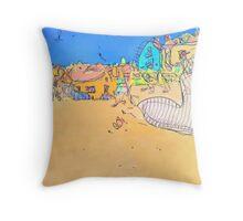 Robin Hoods bay Yorkshire Throw Pillow