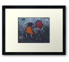 A VERY WINDY DAY  Framed Print