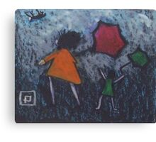 A VERY WINDY DAY  Canvas Print