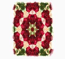 Old Red Rose Kaleidoscope 3 Unisex T-Shirt