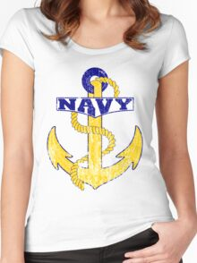 Vintage NAVY Anchor - Fathers Day Gift!  Women's Fitted Scoop T-Shirt