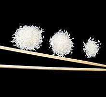 three portions of rice by KERES Jasminka
