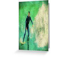 A Surfer Leads the Wave Greeting Card