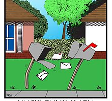 YUCK! JUNK MAIL! by wickedcartoons