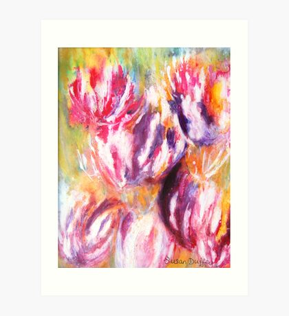 Rainbow Tulips Art Print