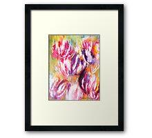 Rainbow Tulips Framed Print