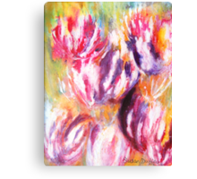 Rainbow Tulips Canvas Print