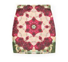 Old Red Rose Kaleidoscope 4 Mini Skirt