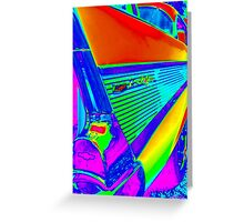 Vibrant World of the Chevy Bel Air Greeting Card