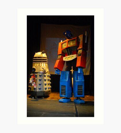 Dalek and Optimus Prime Art Print