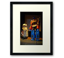 Dalek and Optimus Prime Framed Print
