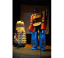 Dalek and Optimus Prime Photographic Print