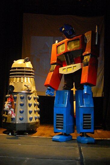 Dalek and Optimus Prime by TimChuma