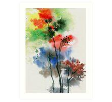 Trees in colors Art Print