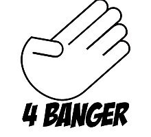 4 Banger Decal (White) Photographic Print