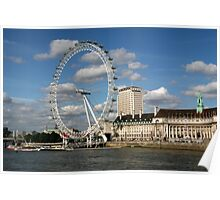 London Eye From Westminster Bridge Poster