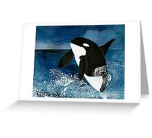Killer Whale Orca Greeting Card