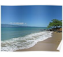 Off the Road Beach Maui - Island of Molokai Poster