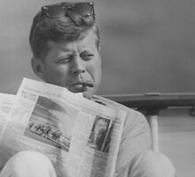 JFK Relaxing Outside by warishellstore