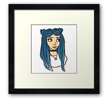 cute tiny hair buns  Framed Print