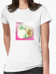 Two Scrambled Eggs - EGGplant Womens Fitted T-Shirt