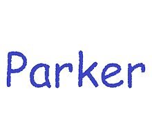 Parker - Blue Letters by jkmarshall