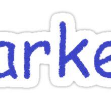 Parker - Blue Letters Sticker