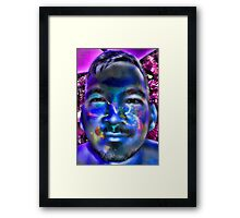 In a Childs Eyes Blue Nasa Framed Print