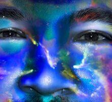 In a Childs Eyes Blue Nasa Sticker